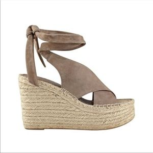 Marc Fisher Andira wedge ankle tie espadrille!